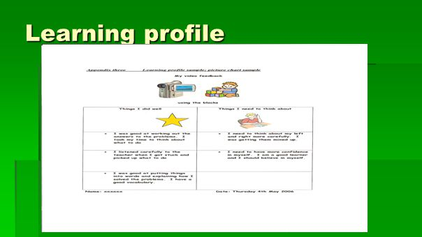 Learning profile