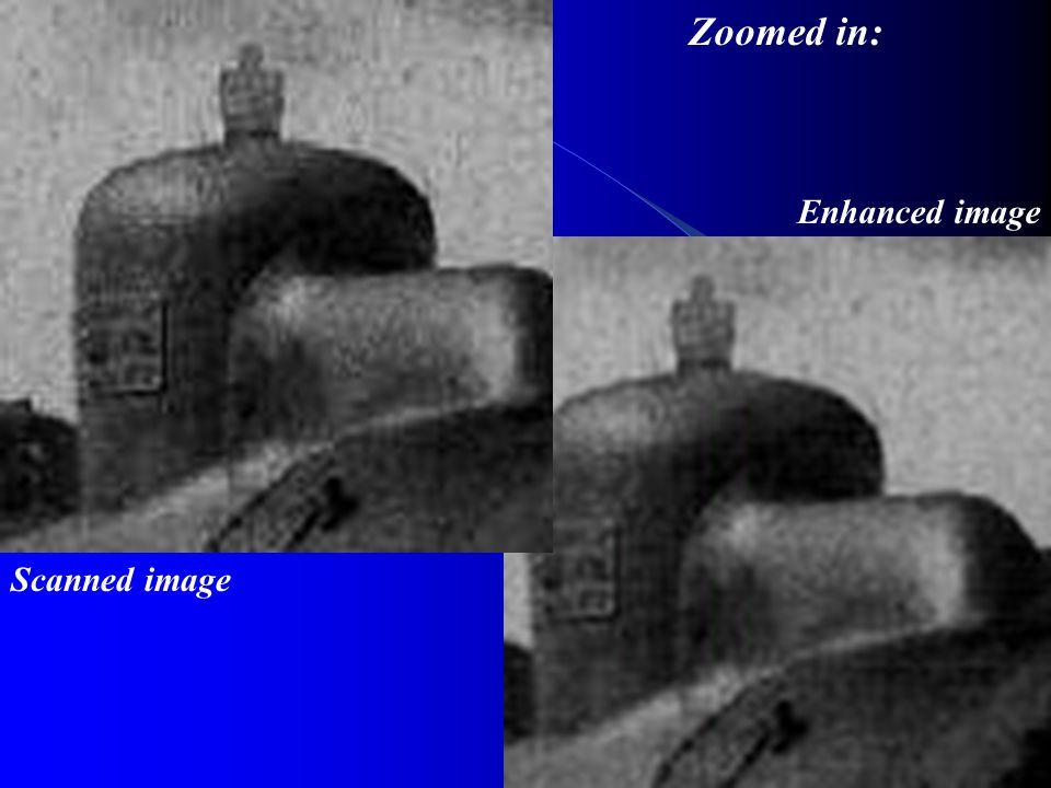 Scanned image Enhanced image