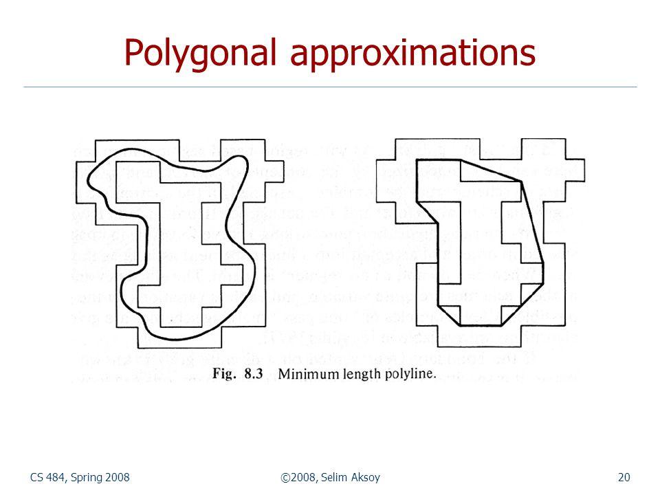 CS 484, Spring 2008©2008, Selim Aksoy20 Polygonal approximations