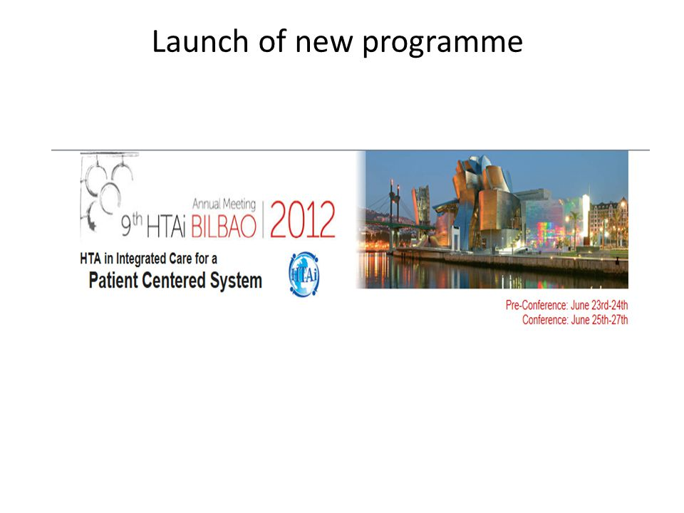 Launch of new programme