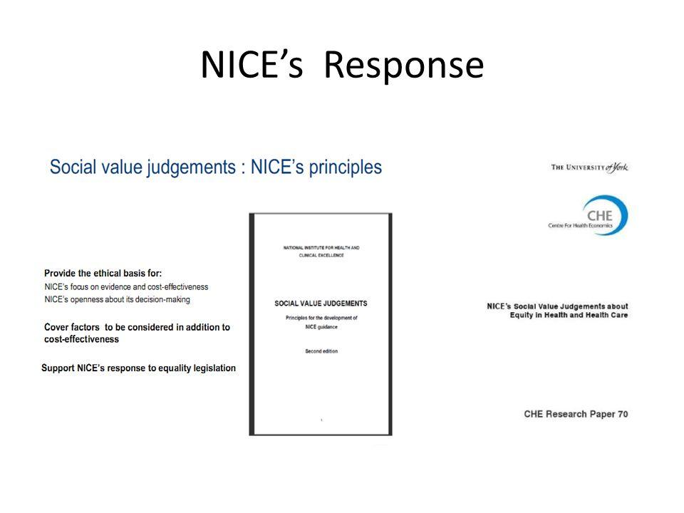 NICE's Response
