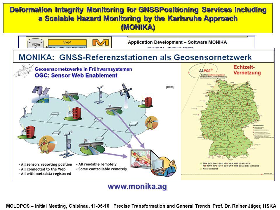 MOLDPOS – Initial Meeting, Chisinau, 11-05-10 Precise Transformation and General Trends Prof. Dr. Reiner Jäger, HSKA Deformation Integrity Monitoring