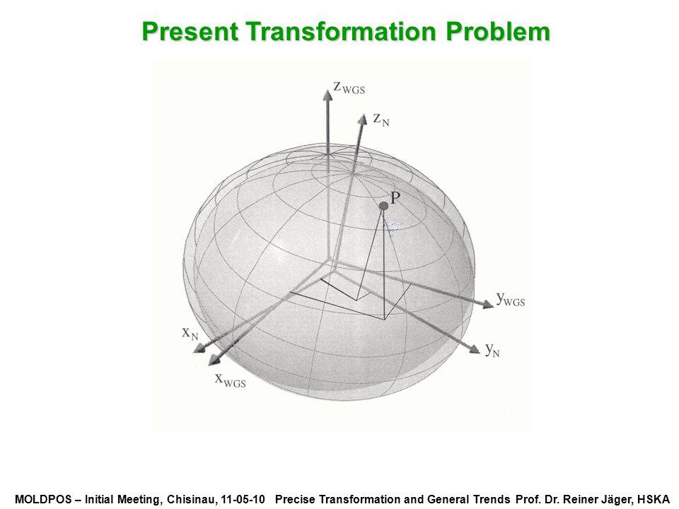 MOLDPOS – Initial Meeting, Chisinau, 11-05-10 Precise Transformation and General Trends Prof. Dr. Reiner Jäger, HSKA Present Transformation Problem