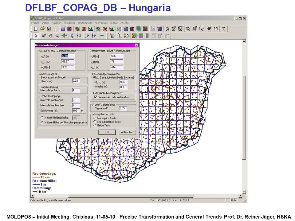 MOLDPOS – Initial Meeting, Chisinau, 11-05-10 Precise Transformation and General Trends Prof. Dr. Reiner Jäger, HSKA DFLBF_COPAG_DB – Hungaria