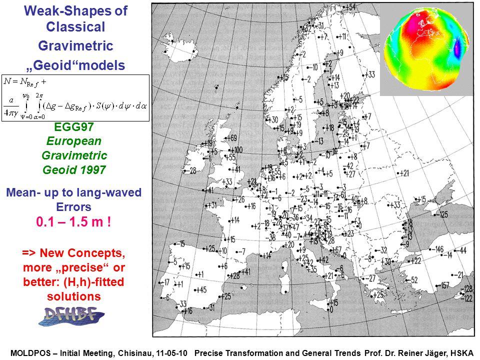 MOLDPOS – Initial Meeting, Chisinau, 11-05-10 Precise Transformation and General Trends Prof. Dr. Reiner Jäger, HSKA EGG97 European Gravimetric Geoid