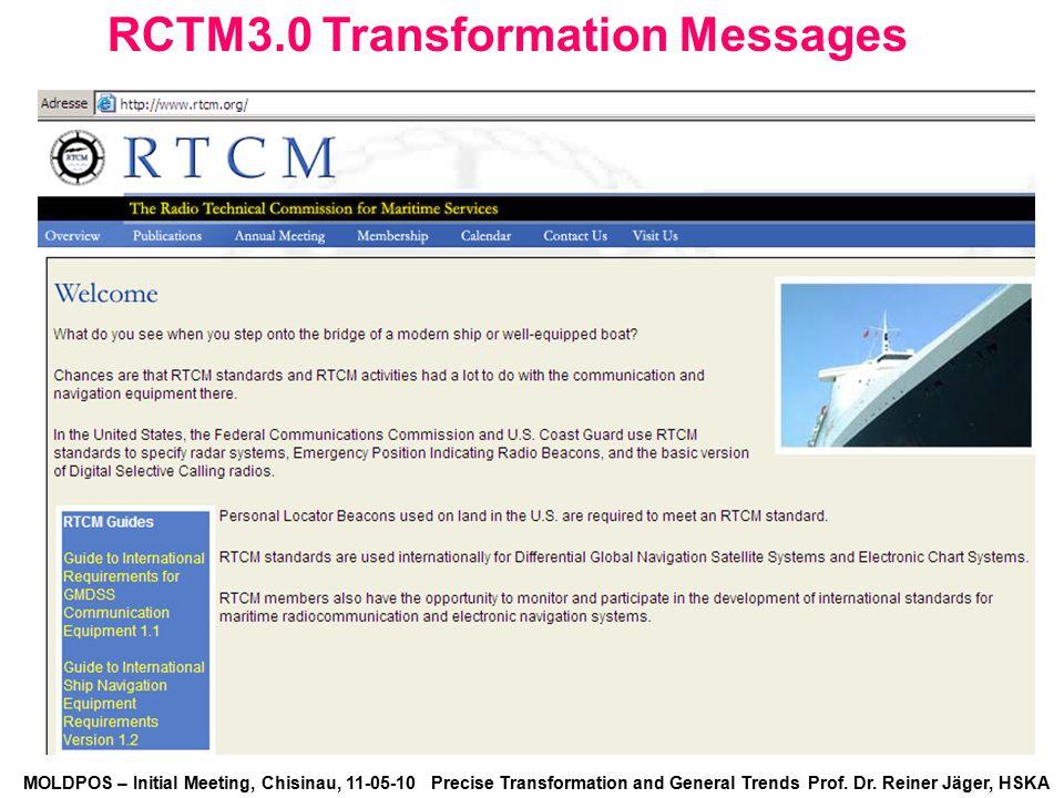 RCTM3.0 Transformation Messages