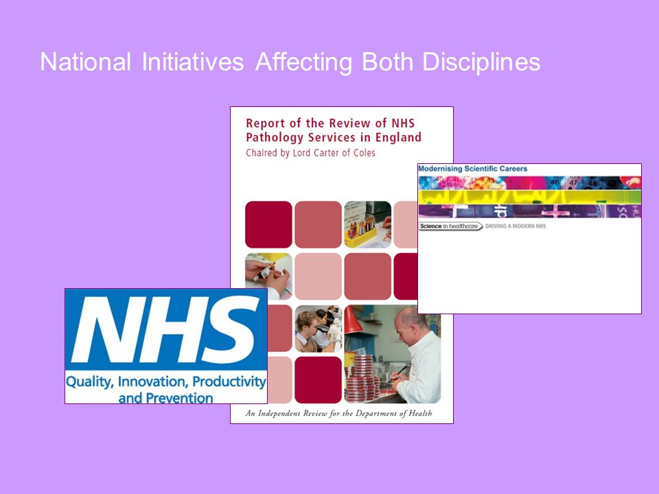 National Initiatives Affecting Both Disciplines