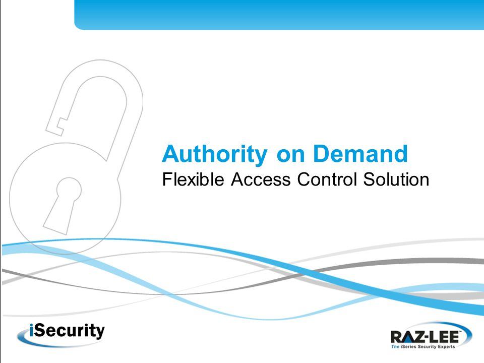 1 Authority on Demand Flexible Access Control Solution