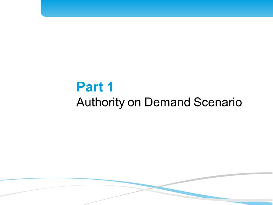 4 Part 1 Authority on Demand Scenario