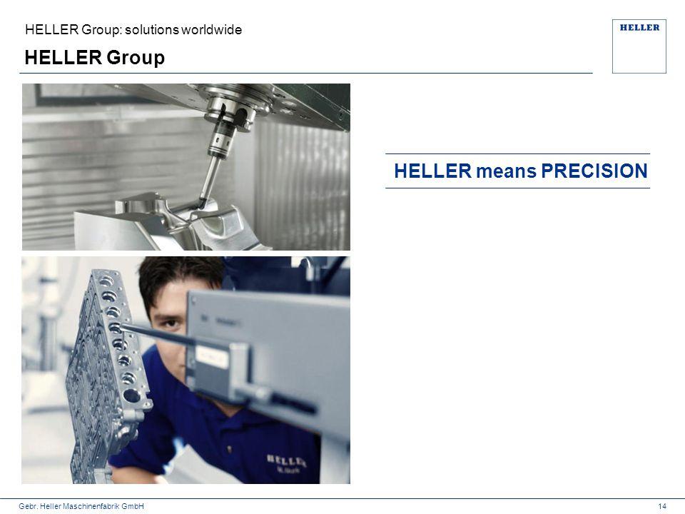Gebr. Heller Maschinenfabrik GmbH HELLER Group 14 HELLER means PRECISION HELLER Group: solutions worldwide