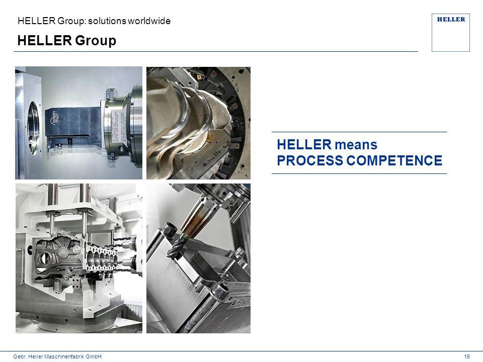 Gebr. Heller Maschinenfabrik GmbH HELLER Group 16 HELLER means PROCESS COMPETENCE HELLER Group: solutions worldwide