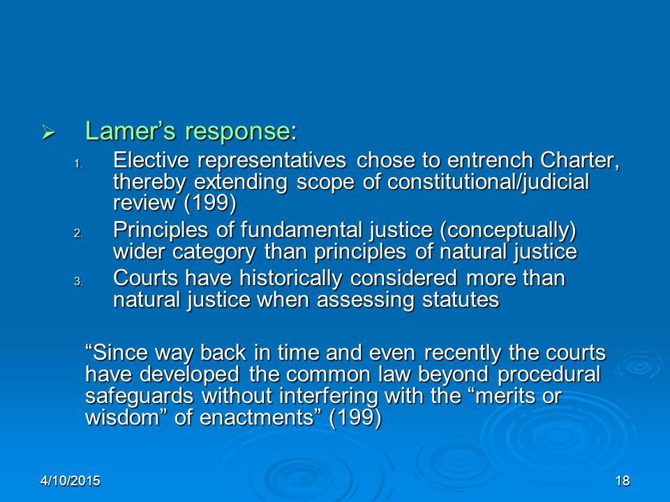 4/10/201518  Lamer's response: 1.