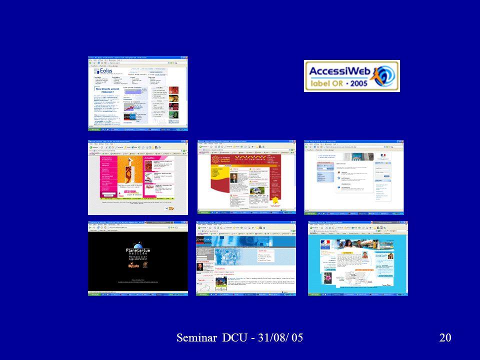 Seminar DCU - 31/08/ 0520