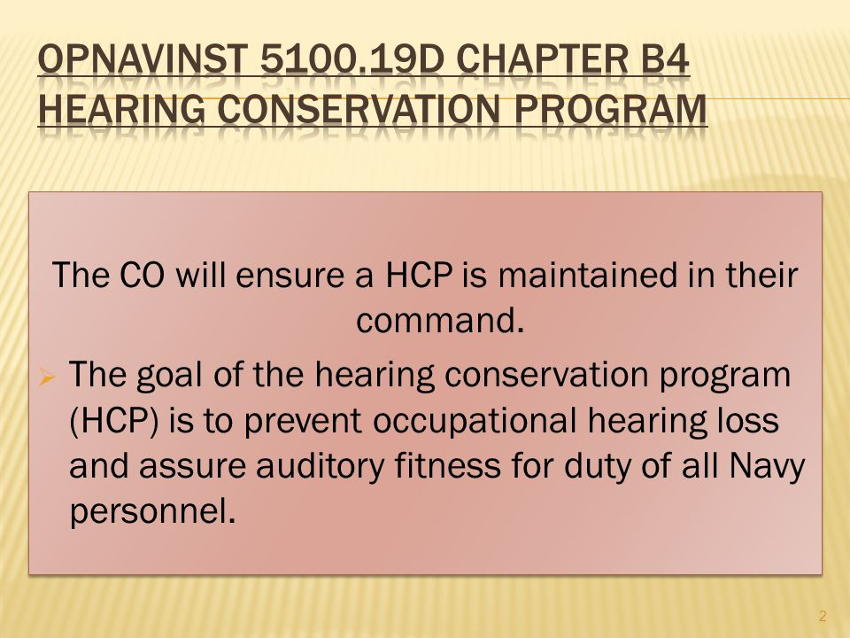 The CO will ensure a HCP is maintained in their command.