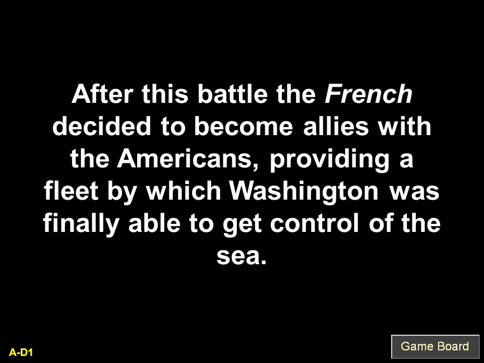 What is the Treaty of Paris of 1783, NOT 1763! Q-C5