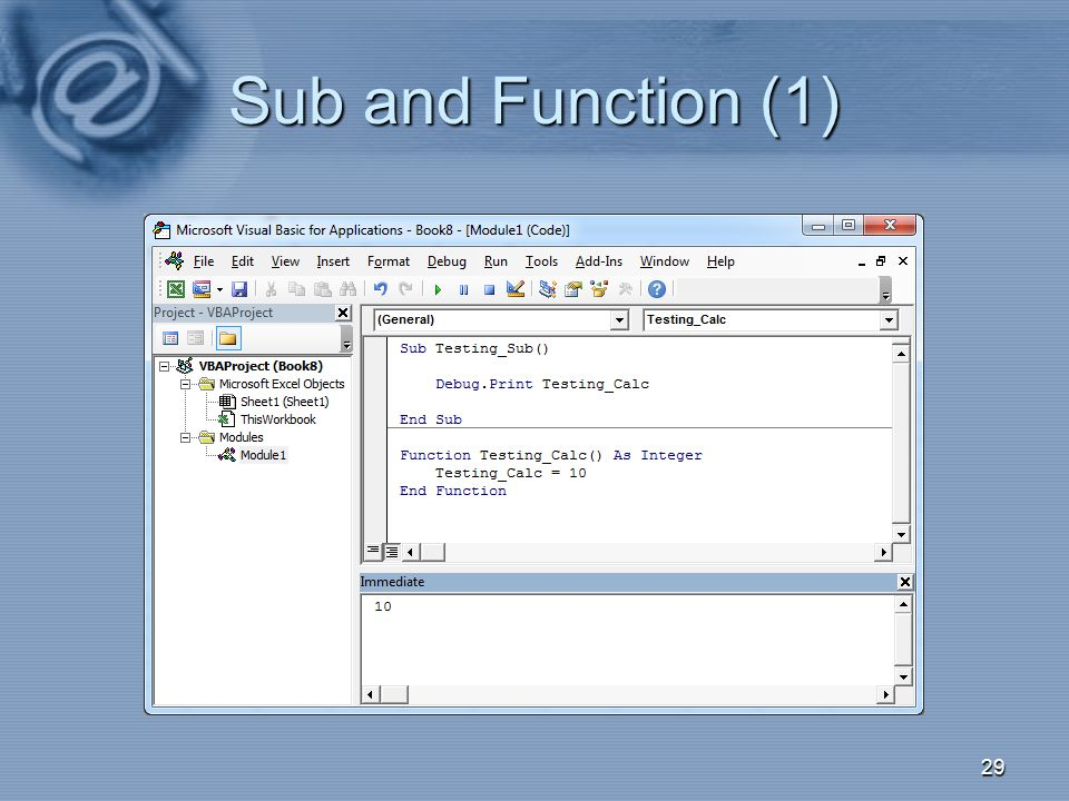 Sub and Function (1) 29
