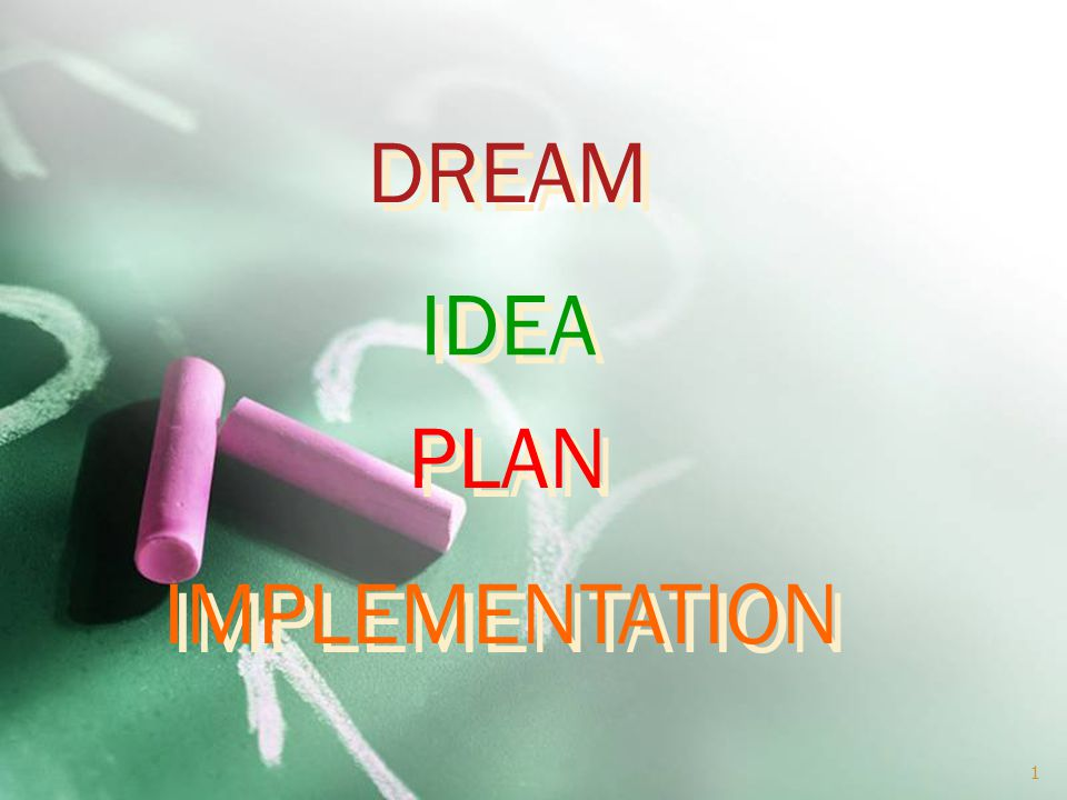 DREAM PLAN IDEA IMPLEMENTATION 1
