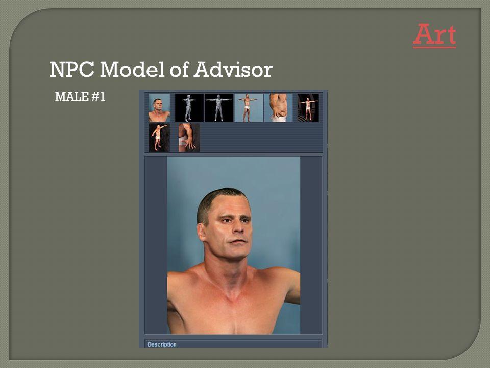 MALE #1 NPC Model of Advisor Art