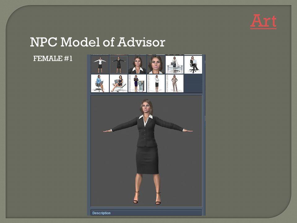 FEMALE #1 NPC Model of Advisor Art