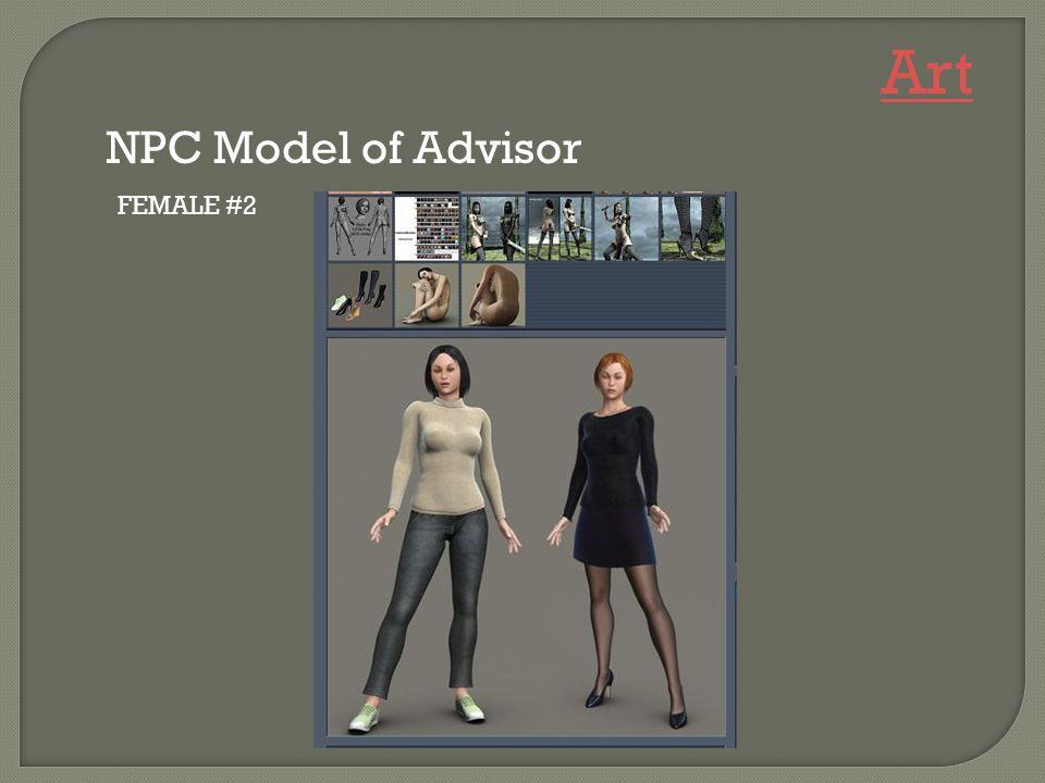 FEMALE #2 NPC Model of Advisor Art