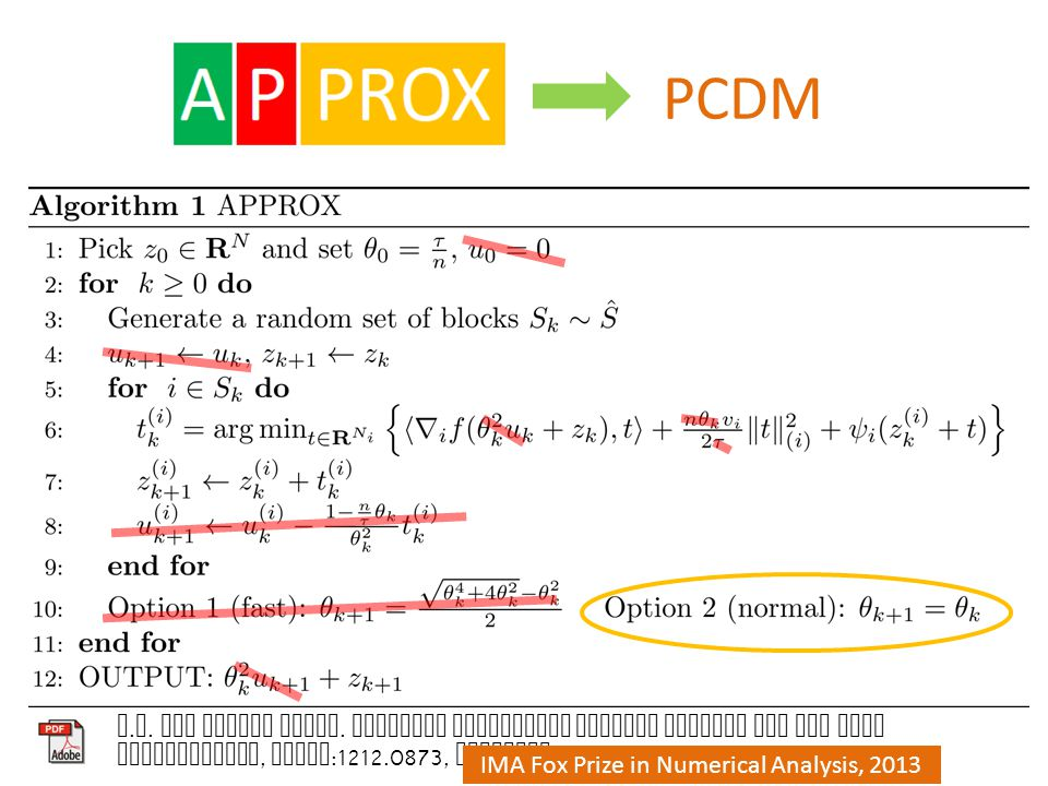 PCDM P. R. and Martin Takac.