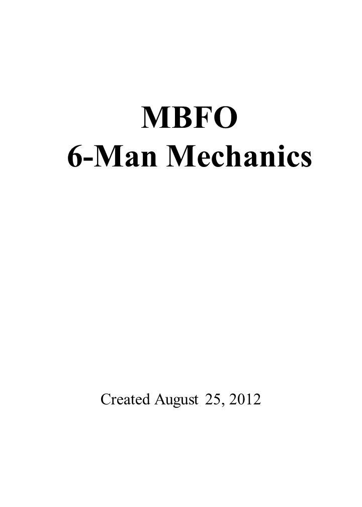 3 0 4 0 5 0 4 0 3 0 4 0 5 0 4 0 3 0 COACHES AREA Created August 25, 2012 MBFO 6-Man Mechanics