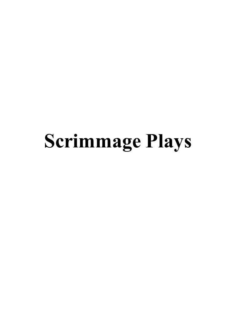 3 0 4 0 5 0 4 0 3 0 4 0 5 0 4 0 3 0 COACHES AREA Scrimmage Plays