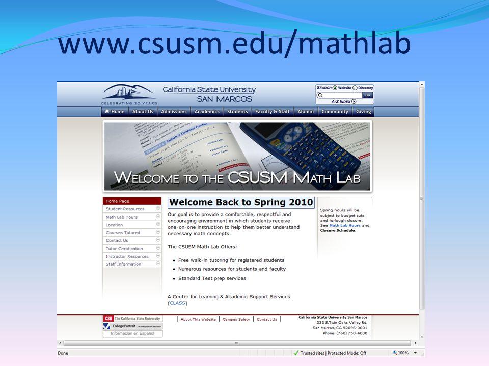 www.csusm.edu/mathlab
