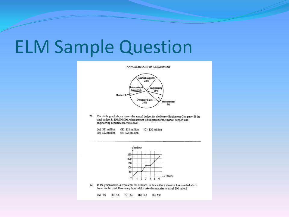 ELM Sample Question