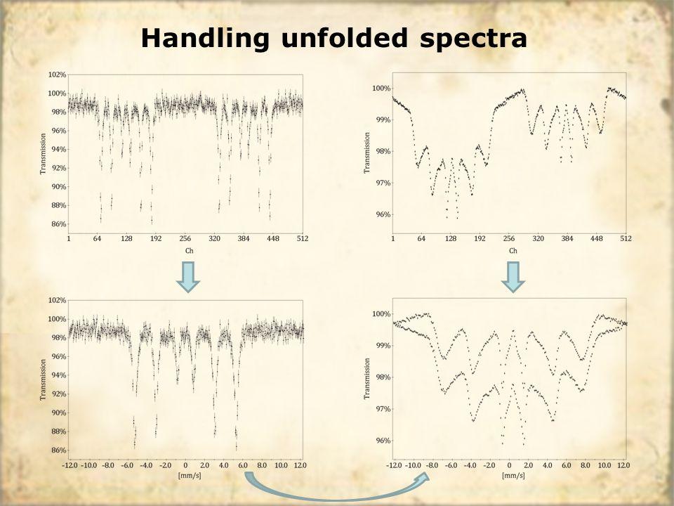 Handling unfolded spectra