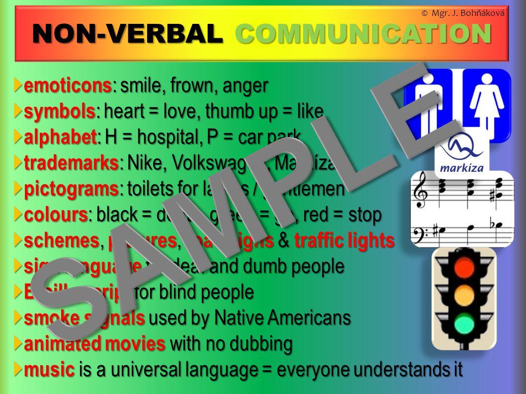  emoticons : smile, frown, anger  symbols : heart = love, thumb up = like  alphabet : H = hospital, P = car park  trademarks : Nike, Volkswagen, M