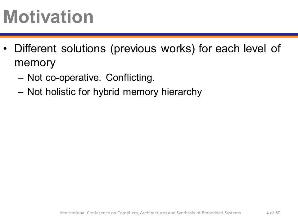 Motivation ♯ Stack data layout for hybrid L1 cache (Li et.al.