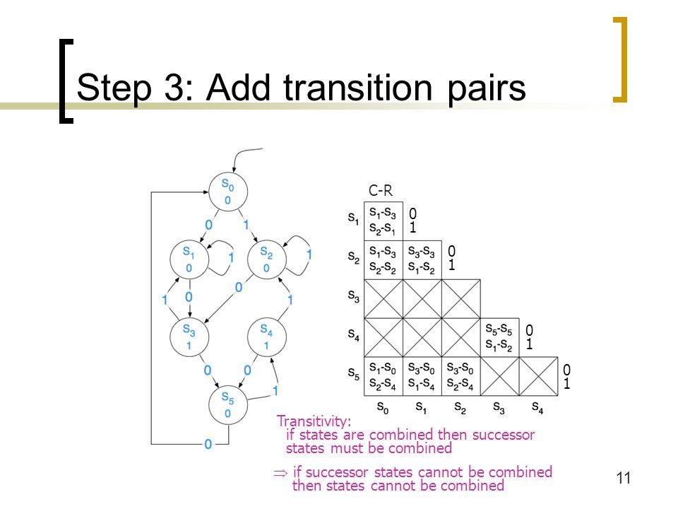 12 Step 4: Consider transitions