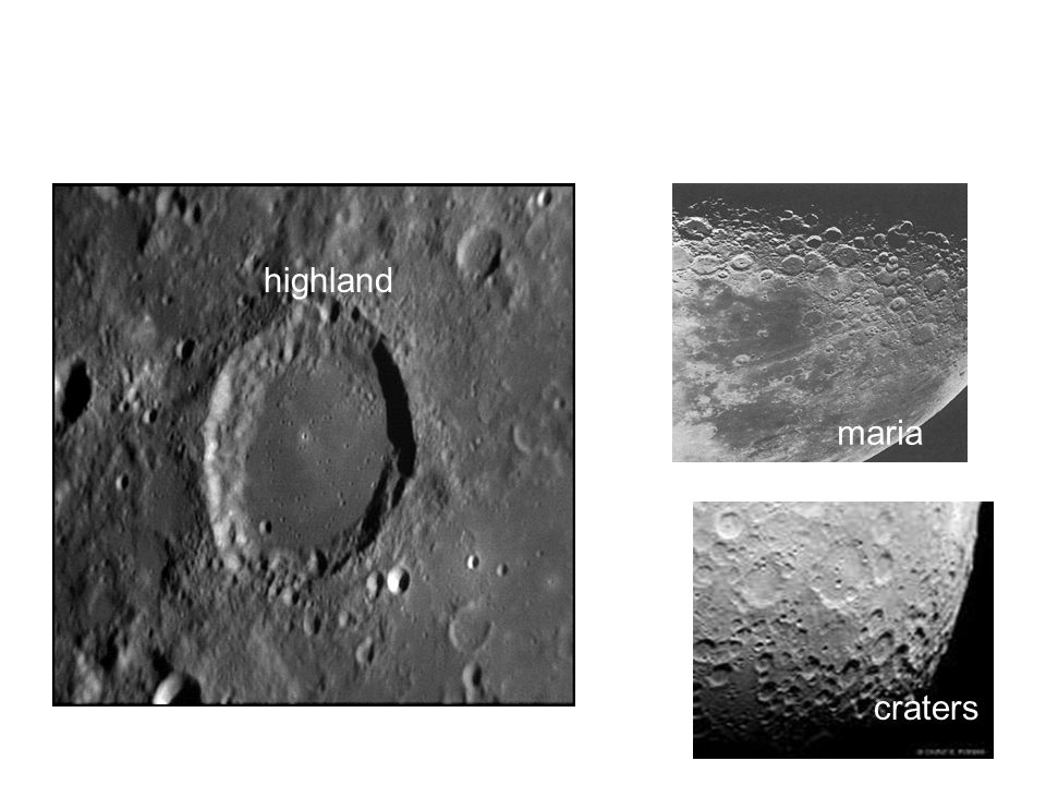 highland maria craters