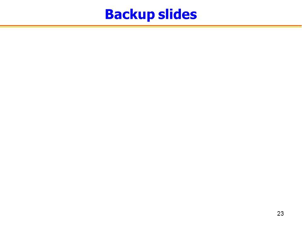 23 Backup slides