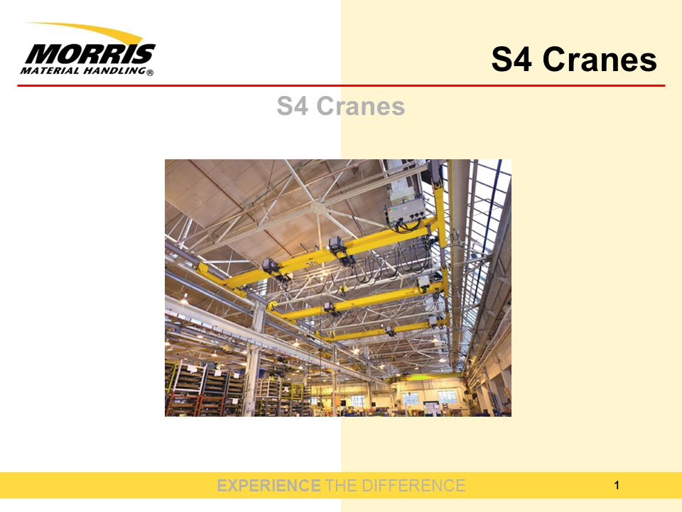 EXPERIENCE THE DIFFERENCE S4 Cranes 1