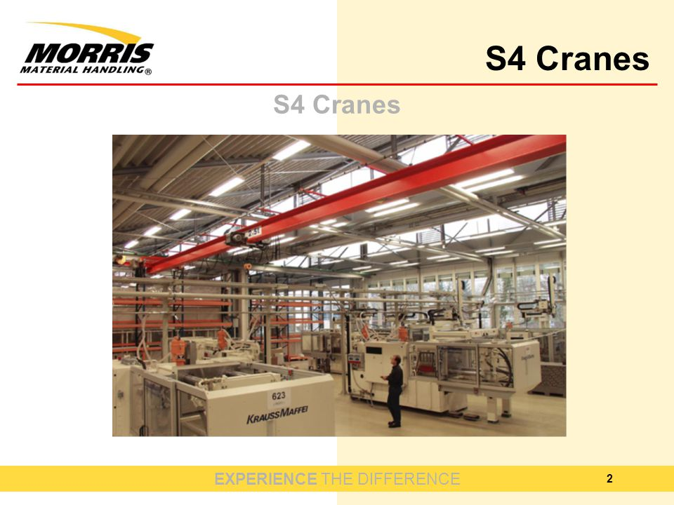 EXPERIENCE THE DIFFERENCE S4 Cranes 2
