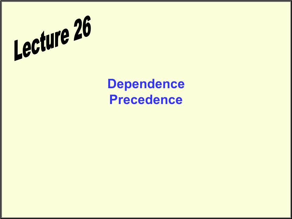 Dependence Precedence