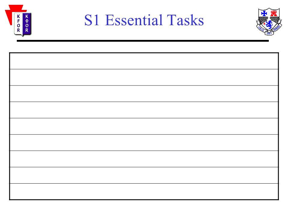 S2 Essential Tasks