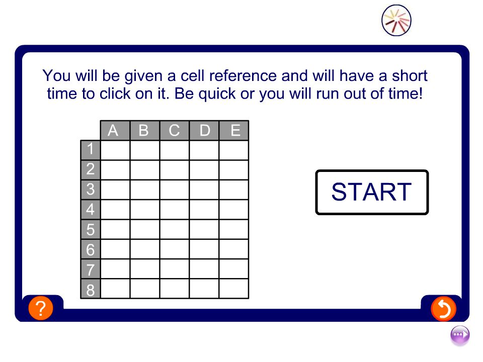 Cell Referencing Quiz Start