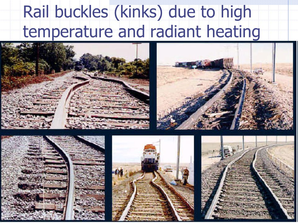 2007/07/26 3 rd NSTWS - Canadian Pacific Page 4 of Rail buckles (kinks) due to high temperature and radiant heating