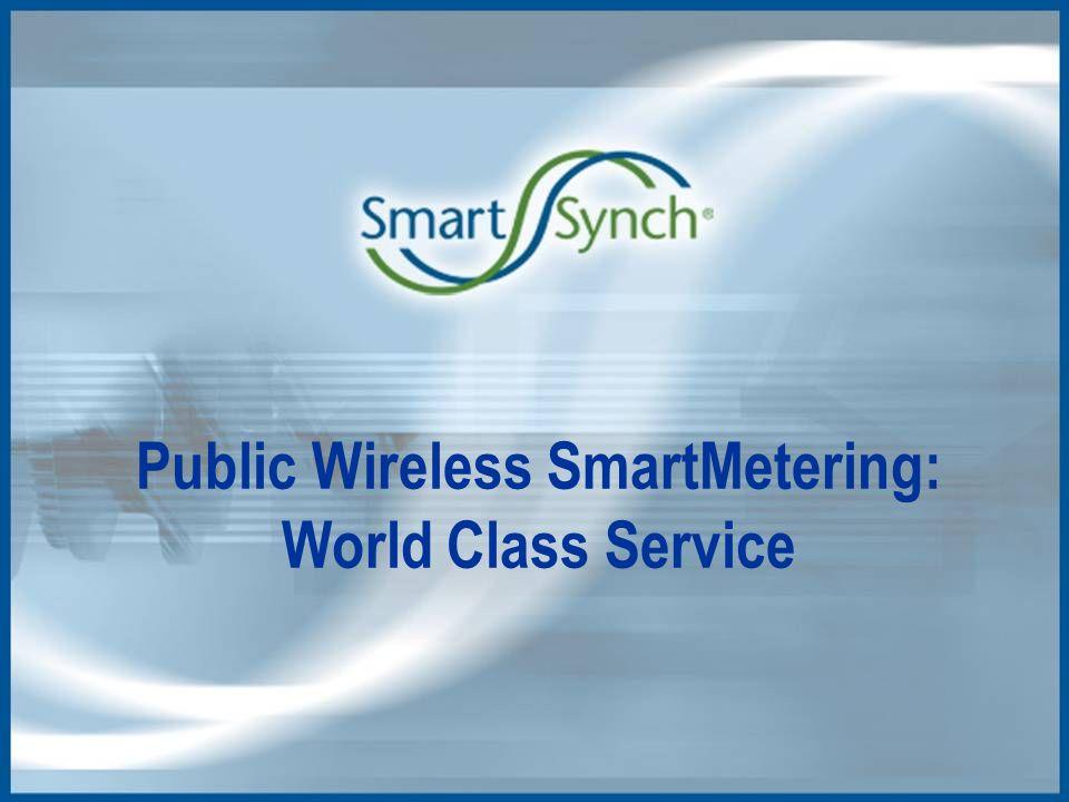 Public Wireless SmartMetering: World Class Service