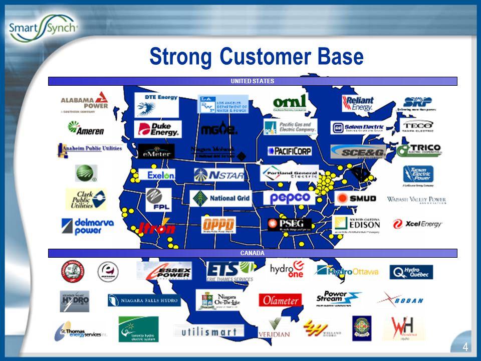 4 Strong Customer Base UNITED STATES CANADA