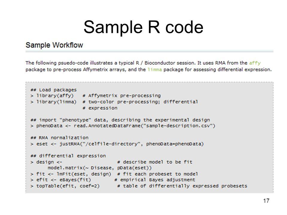 Sample R code 17