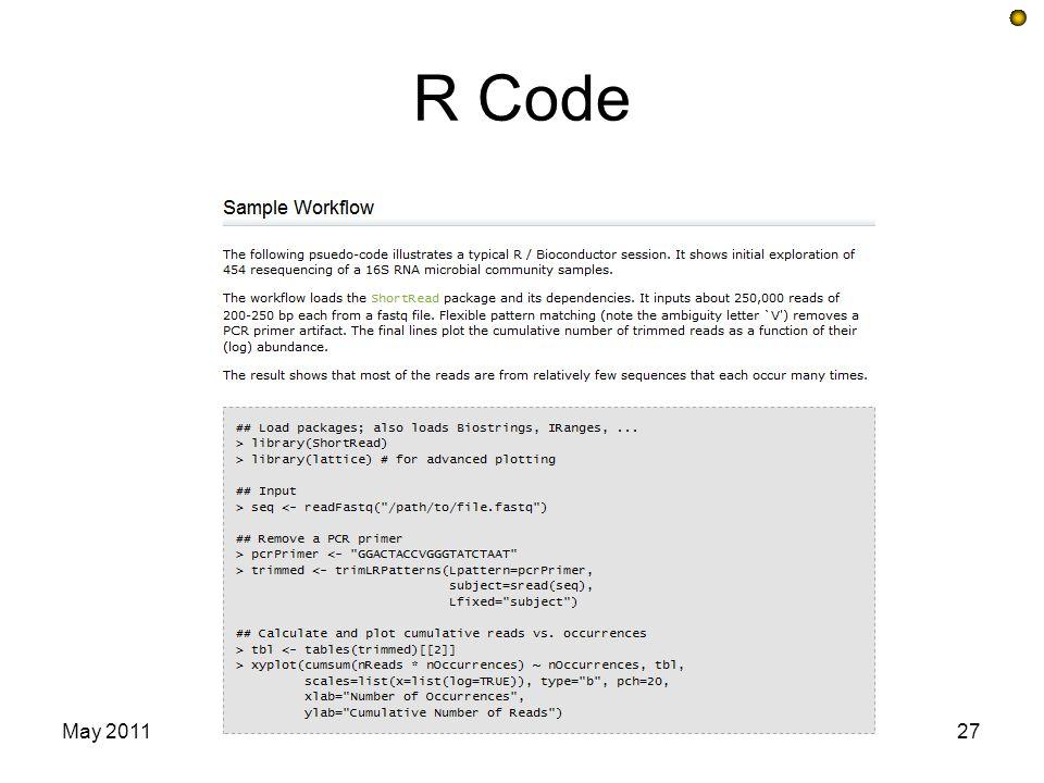 R Code May 201127