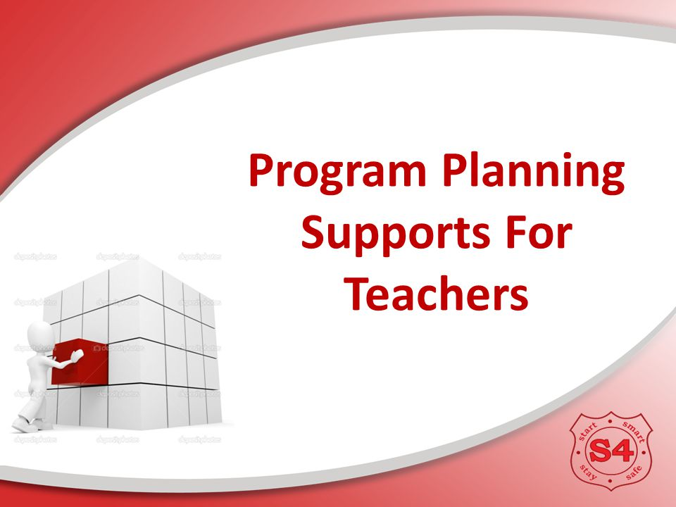 Program Planning Supports For Teachers