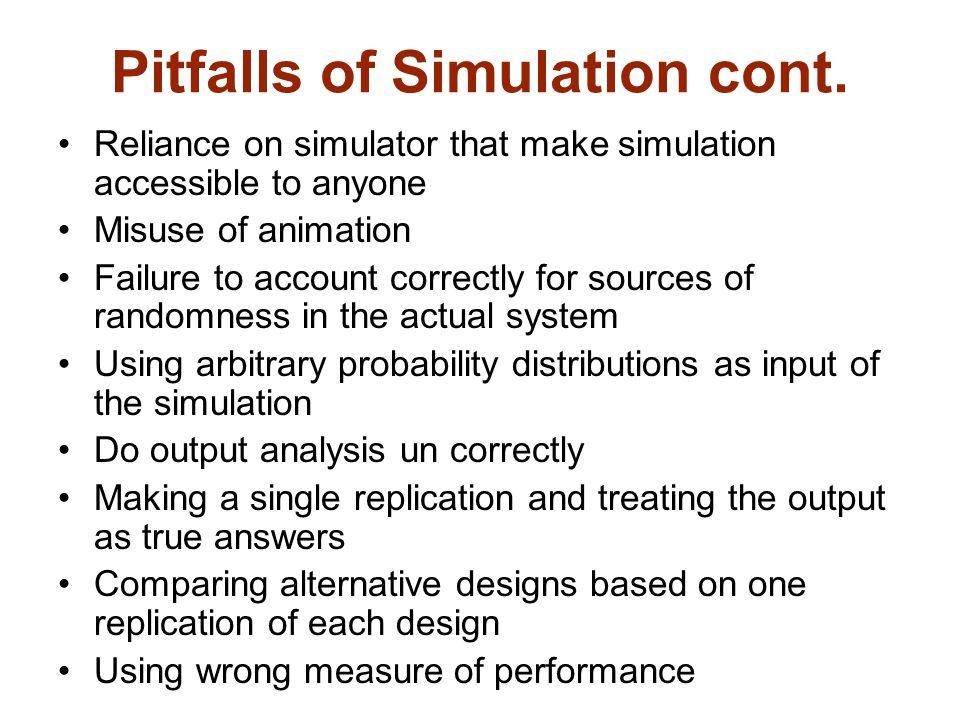 Pitfalls of Simulation cont.