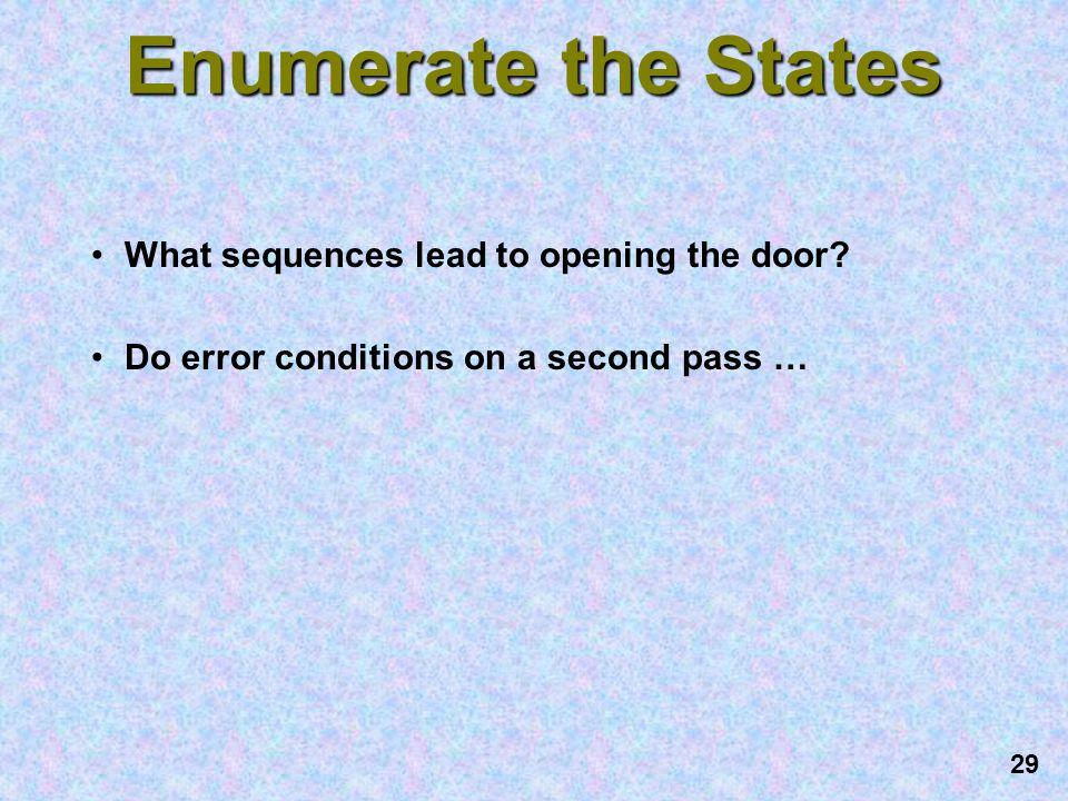 28 Block Diagram of Lock Inputs: Reset, Enter, Key-In, L0, L1, L2 Outputs: Unlock, Error Operator Data Internal Combination Internal Combination