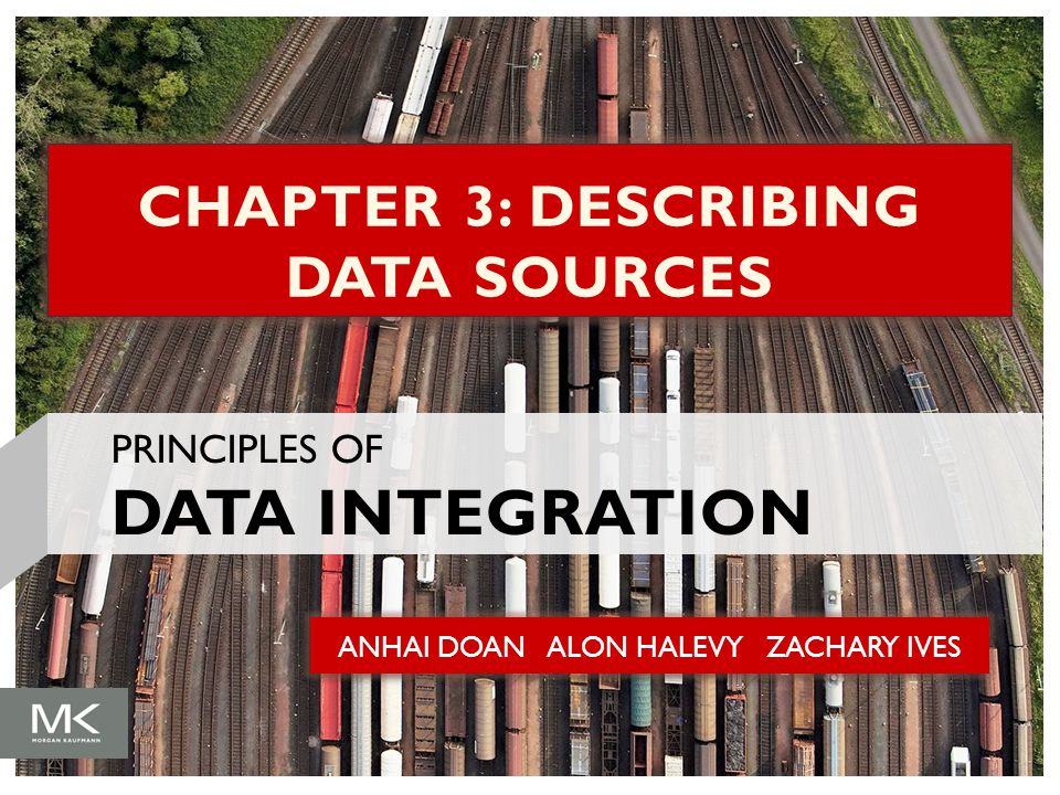 ANHAI DOAN ALON HALEVY ZACHARY IVES CHAPTER 3: DESCRIBING DATA SOURCES PRINCIPLES OF DATA INTEGRATION