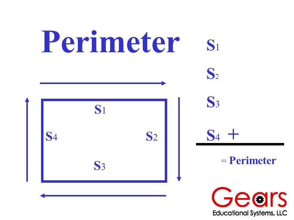 Perimeter S4S4 S1S1 S2S2 S3S3 S 1 S 2 S 3 S 4 + = Perimeter